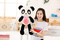 about 60cm squinting eyes giant panda soft throw pillow toy birthday gift s2834