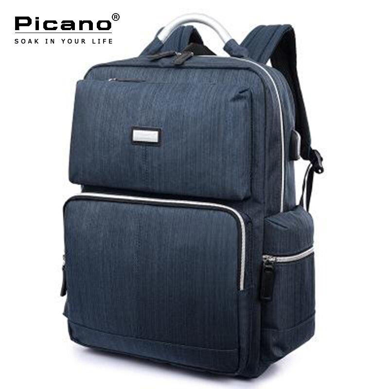 Picano Waterproof Travel Backpack Men Women USB Charge Backbag School Bookbag For Girl Boy Minimalist 17 Inch Laptop Bag PCN014Picano Waterproof Travel Backpack Men Women USB Charge Backbag School Bookbag For Girl Boy Minimalist 17 Inch Laptop Bag PCN014