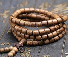 108 beads Wood Prayer Bead Mala Bracelet 6mm 8mm Sandalwood Buddhist Buddha Meditation Women Men jewelry