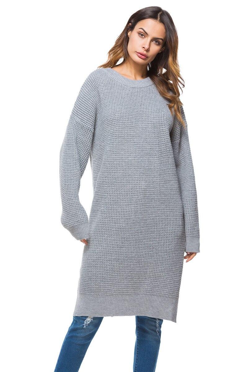 Fall Winter Vintage Mustard Side Slit Crochet Sweater Dress for Women Cute Ladies Retro Cosy Loose Split Pullover One Size 15