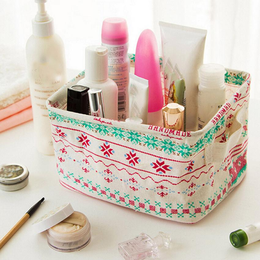 Plastic Office Desktop Storage Boxes Makeup Organizer Storage Box