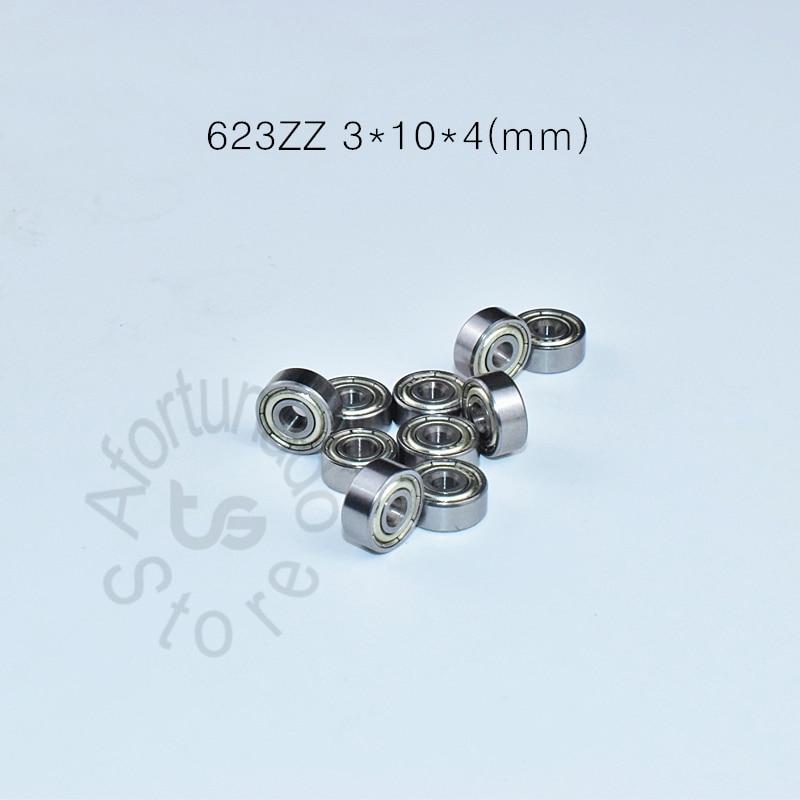623ZZ 3*10*4 Mm 10pieces Free Shipping ABEC-5 Chrome Steel Bearings 10pcs Metal Sealed Miniature Mini Bearing  623 623Z 623ZZ