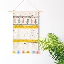 YOOSA Nordic Hanging Wall Tapestry Macrame Wedding Backdrop Wall Art 2018 Christmas New Year Home Living Room Decoration yoosa белый