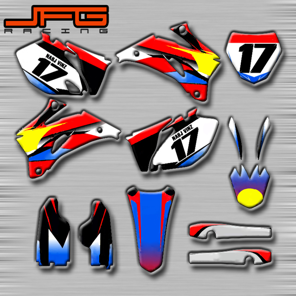Customized Graphics Background Decals Stickers Kits For YAMAHA YZF250R YZF450F YZF250 YZF450 F 2006 2007 2008 2009
