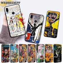 WEBBEDEPP Artist Jean Michel Basquiat Silicone Case for Xiaomi Redmi 4A 4X 5A 5 Plus S2 6 6A 7 7A K20 Pro Go