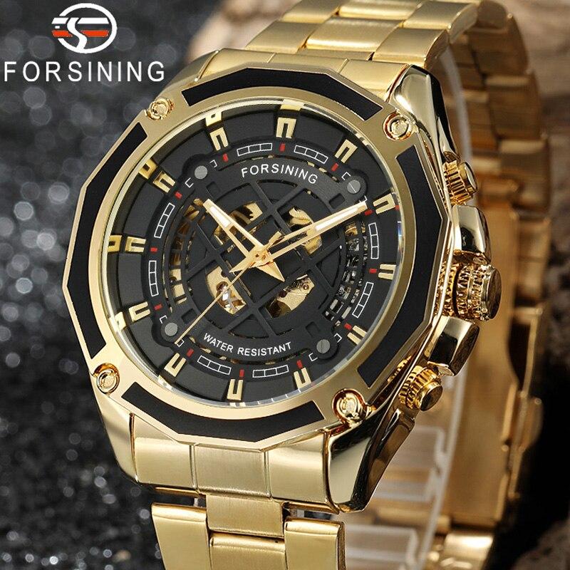 relogio masculino Forsining Men Watch Top Brand Luxury Sport Automatic Mechanical Wristwatch Fashion Skeleton Male Clock