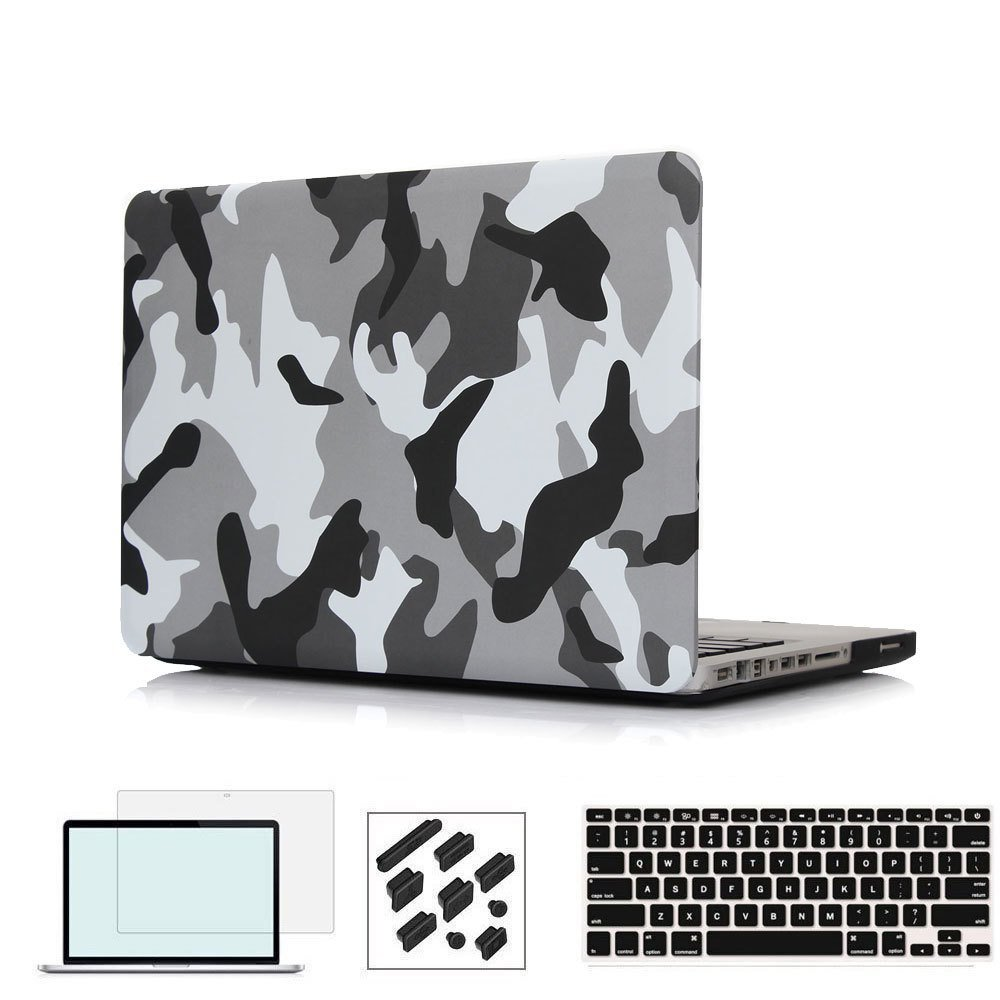RYGOU Camouflage Үлгісі Ultra Slim Light Салмағы Apple MacBook Air үшін 13 11 Pro Retina 12 13 15 дюймдік корпус