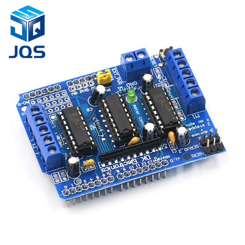 L293D Motor Drive Shield Dual For Arduino Duemilanove, Motor Drive Expansion Board Motor Control Shield
