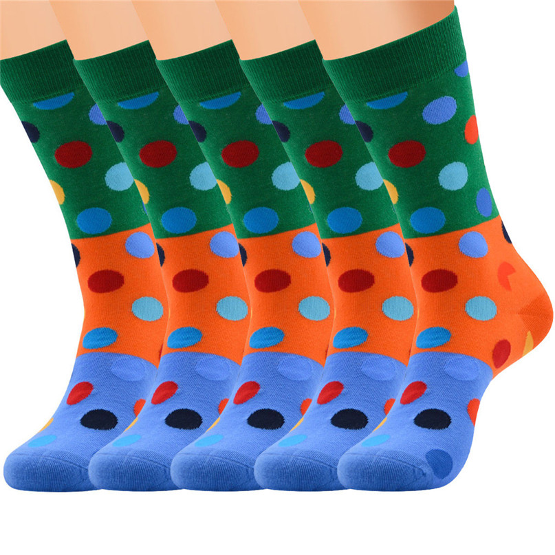 Men Accessories 5 Pairs Men`s Colorful Funny Novelty Crazy Combed Cotton Casual Socks Sport Foot Sock 30LY18 (2)