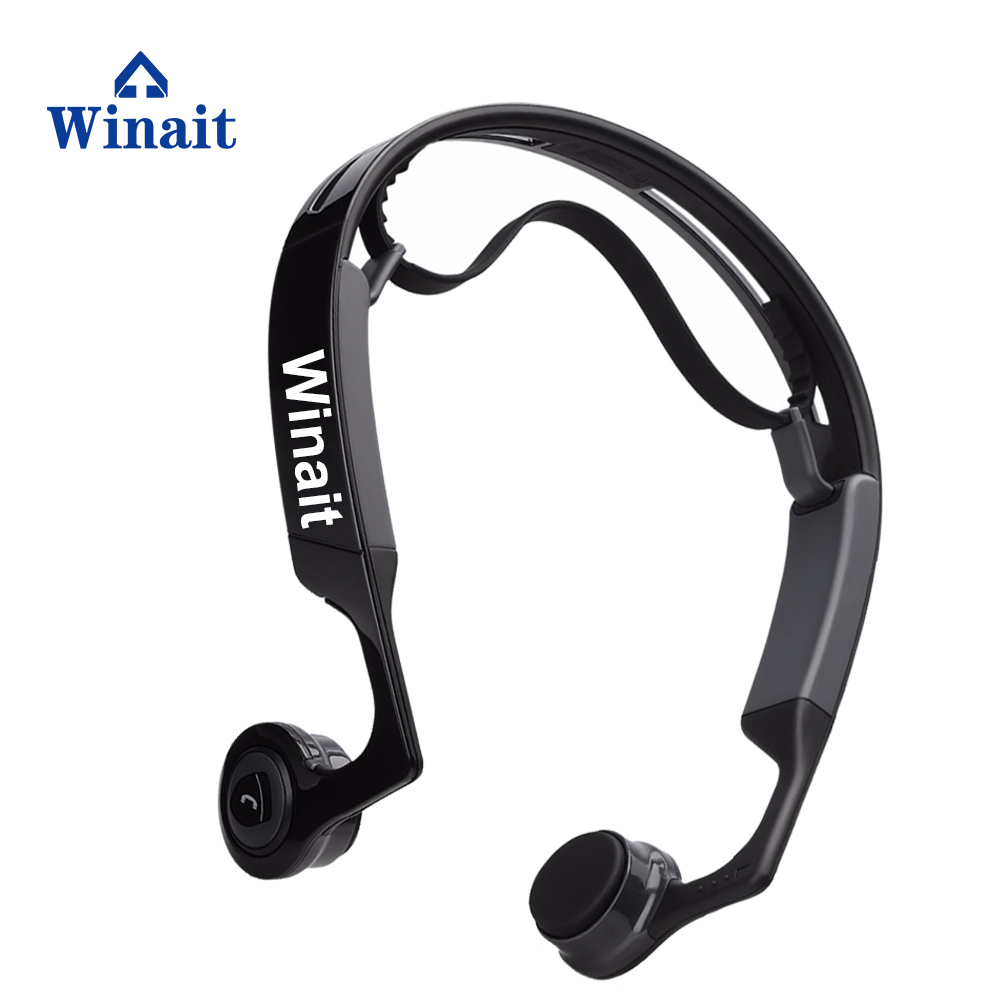 Cheap Style Bone Conduction Design Wireless Bluetooth Headset Earphone Sport Headphone Stereo Sound Mp3 Music Player