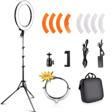 RL-18 Camera Photo Video 18 55W 240PCS LED 5500K Dimmable Photography Ring Video Light for Camera Fill Light 18 led smd ring light 5500k 55w dimmable led ring light photography camera 240pcs lamp with tripod for video camera light