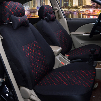 1-set Comfortable Linen Automobile Seat Cover O SHI CAR Universal Five-seater Cushion For Most Cars Four Seasons General