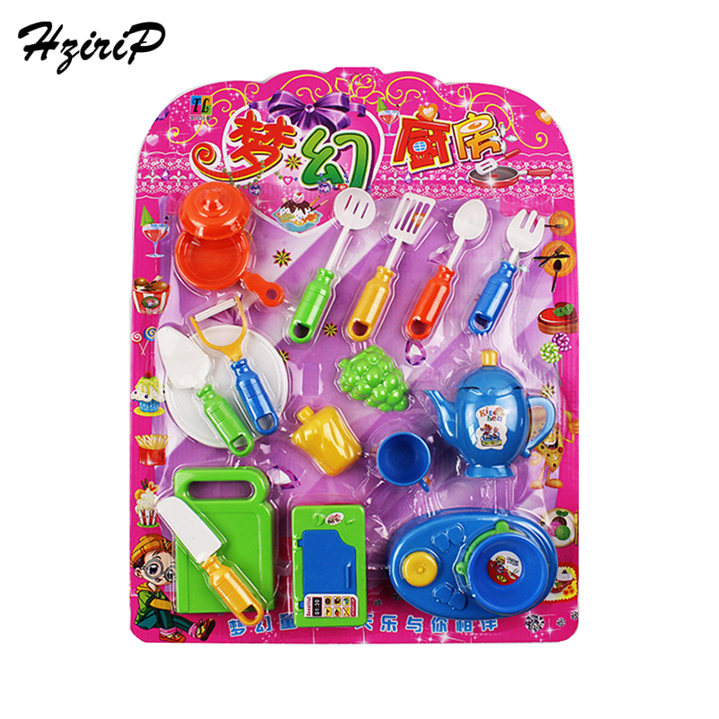 HziriP New Kitchen Toy Sets Plastic Simulation Fruit Vegetable Pretend Play Cutting Cooking Kids Toys Children Baby Gifts