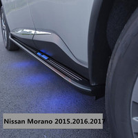 For Nissan Morano 2015.2016.2017 Car Running Boards Side Step Bar Pedals High Quality Brand New LED Light Style Nerf Bars