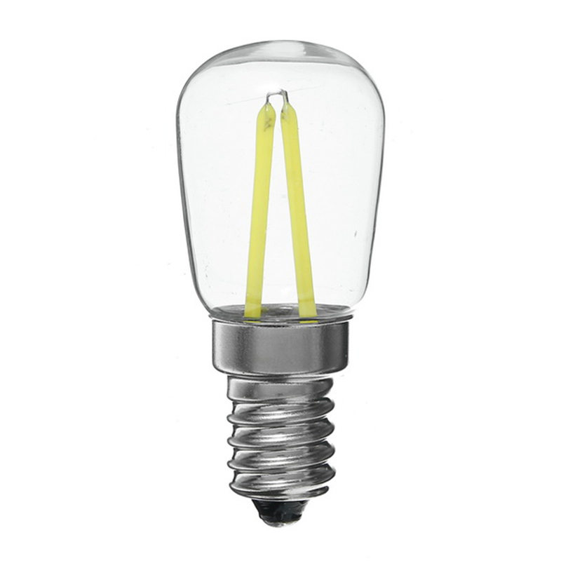LED Light Edison Bulb E14 T26 1.5W 2W White / Warm White LED Filament Light Bulb Chandelier Refrigerator Lamp AC220-240V e14 2w 180lm 3000k warm white light 2 led filament bulb transparent ac 220v