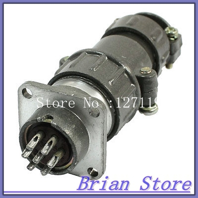 Waterproof Aviation Plug Pannel Connector Adapter 7 Pin P20-7 Core electric cable aviation 4p 25mm pannel connector plug adapter ac 250v 7a
