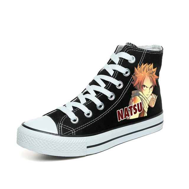 Amy and Michael Fairy Tail Canvas Shoes Women and Men Cosplay Shoes Anime Natsu  and Gray