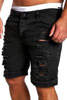 New Arrivals Men Fashion Ripped Jeans Short Pants Loose Denim Pants Short Jeans M 2XL Hot