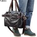 Новые 2017 мужчин дорожные сумки кожаные бизнес-багажные сумки досуга большие сумки tote bolsas femininas мужчины crossbody вещевые мешки