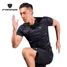 FANNAI Men Sport Running Shirts Camouflage Sportswear Mens Short Sleeve Fitness Gym Shirt Quick Dry Basketball Training T