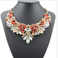Fashion Women Rhinestone Statement Bib Pendant Choker Chain Women Necklace Choker Chain Collar Jewelry