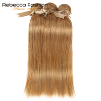 Rebecca 27/30 Bundles Straight Hair Brazilian Hair Weave Bundles 100% Remy Human Hair Extensions 3/4 Bundles 10 to 26 Inches