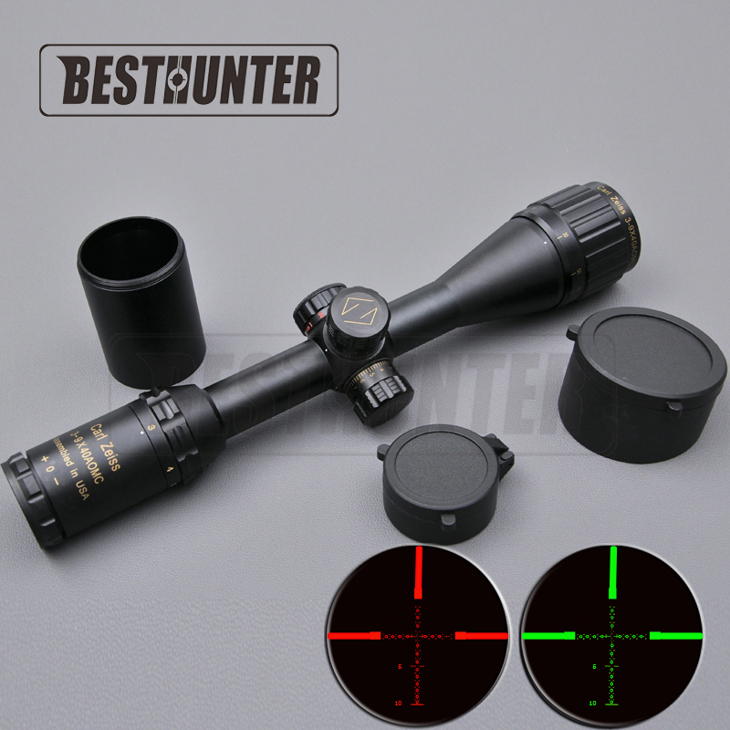ФОТО Carl Zeiss Golden Letter 3-9X40 Optics Riflescope Hunting Scope Reticle Fiber Sight Scope Rifle Airsoft Rifles
