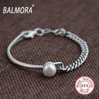 New Retro 100 Real 925 Sterling Silver Jewelry Vintage Bracelets Bangles With Pearl For Women About