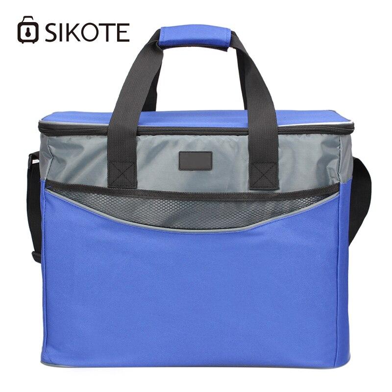 SIKOTE 34L isolation boîte à Lunch garder frais femmes hommes thermique nourriture glace Pack pique-nique bureau déjeuner sac diagonale refroidisseur fourre-tout sacs