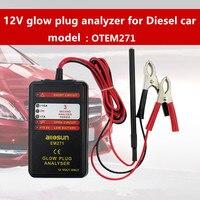 12V Auto Glow Plug Tester Diesel Engine Electric Glow Plug Glow Plug Analyzer EM271
