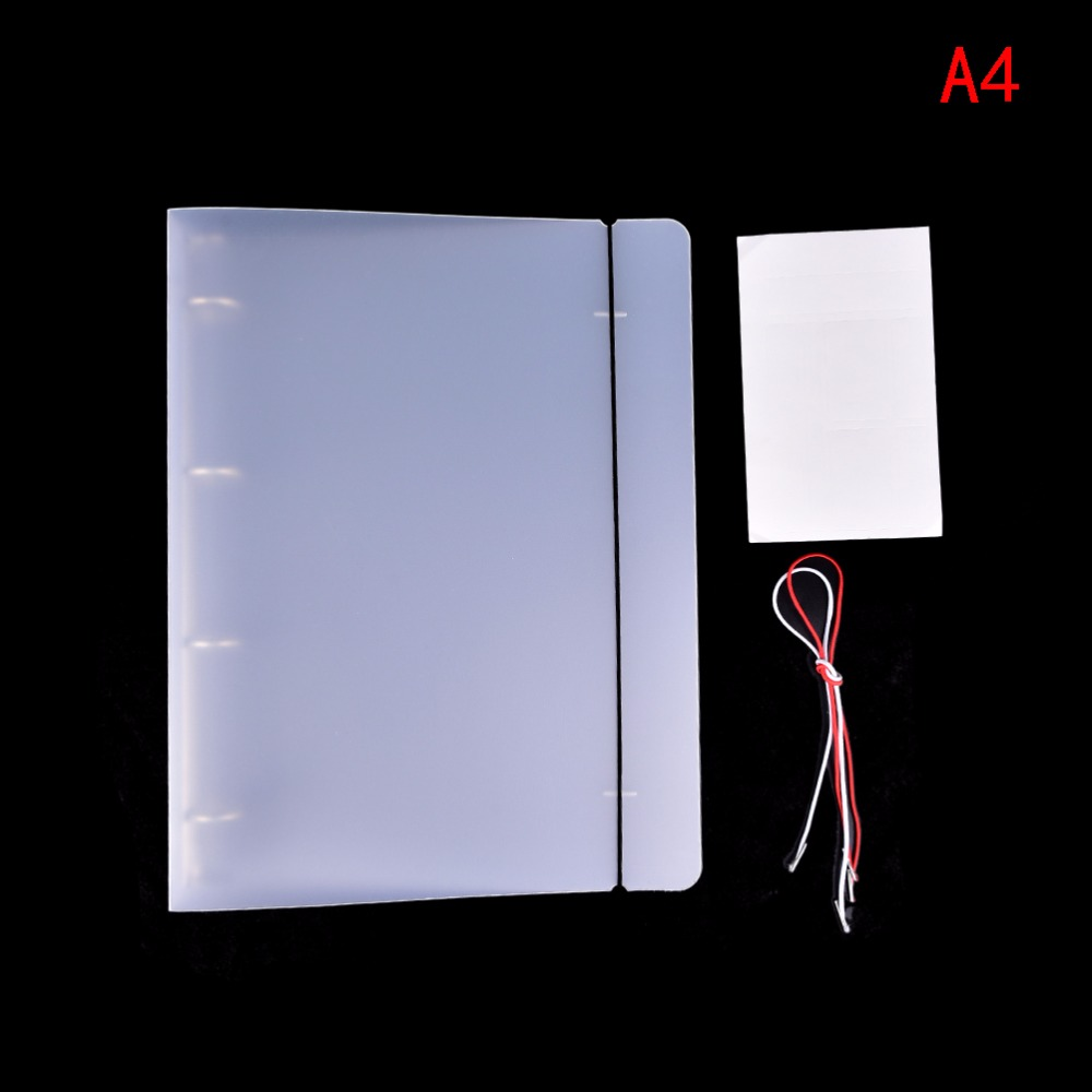 Office & School Supplies Filing Products Peerless A4 Plastic Clip File Folder Classic Transparent Simple Notebook Loose Leaf Ring Binder Diary Planner Cover Stationery
