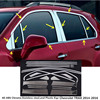 High Quality Car Styling Stainless Steel Glass Window Garnish Pillar Middle Column Trim Hoods For Chevrolet
