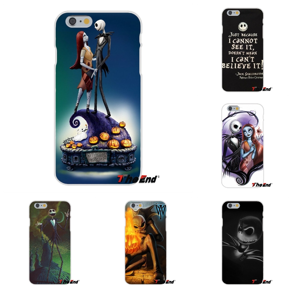 official photos 379f9 0af75 Jack And Sally Nightmare Before Christmas Silicone Case For Iphone X 4 4S 5  5S 5C SE 6 6S 7 8 Plus Galaxy Grand Core Prime Alpha