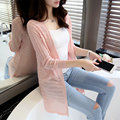 2017 spring thin cardigan sweater female summer long section of hollow jacket XY2015