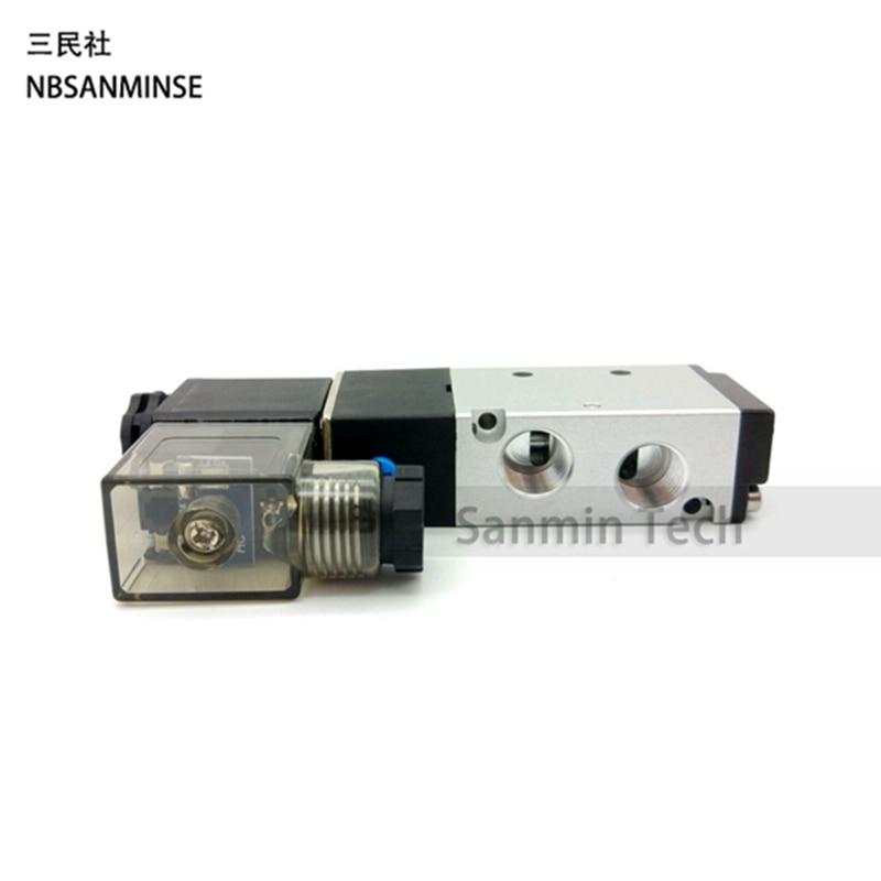 4V 4V210 - 06 / 08 Air Solenoid Valve Pneumatic Compressor G 1/8  G 1/4  Electric Air Control Valve AirTAC Type Valve Sanmin