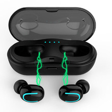 Mini Sem Fio Bluetooth 5.0 Fone De Ouvido Caixa De Carregamento Microfone Bilateral TWS Chama Música 8 SE 7 Invisible Earbud Para O iPhone Da Apple s 8