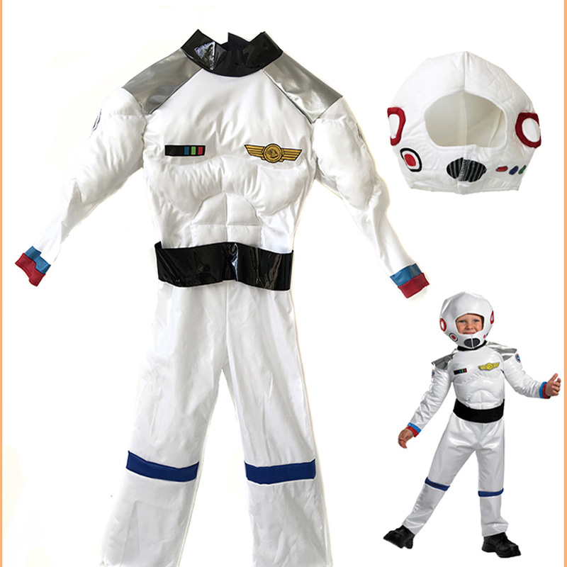 Children's Party Game Astronaut Muscle Costume Role-playing Halloween Costume Carnival Role-playing Dressing Ball Boy Rocket