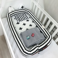 Infant Baby Portable Bed Multifunctional Detachable Crib Newborn Bionic Bed Washable Kids Travel Removable Cotton Cradle