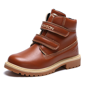 Image 5 - Kids Boots Snow Leather Girl Ankle Boots  Waterproof Winter Warm Cotton Boys Shoes School Sneakers Children Shoes For Boys Boots