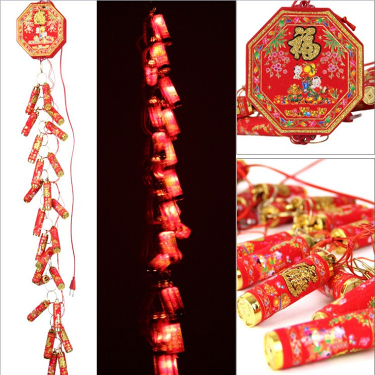 цена Spring festival decoration non remote electronic LED simulation firecrackers with ringing lights онлайн в 2017 году