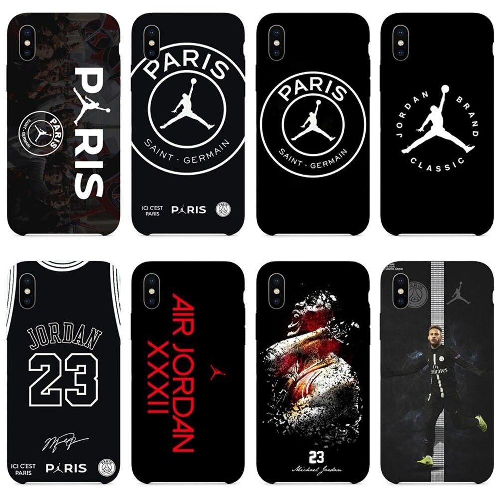 b4b26f3a91a French football star neymar air Jordan soft TPU case for iPhone XR XS X Max  5
