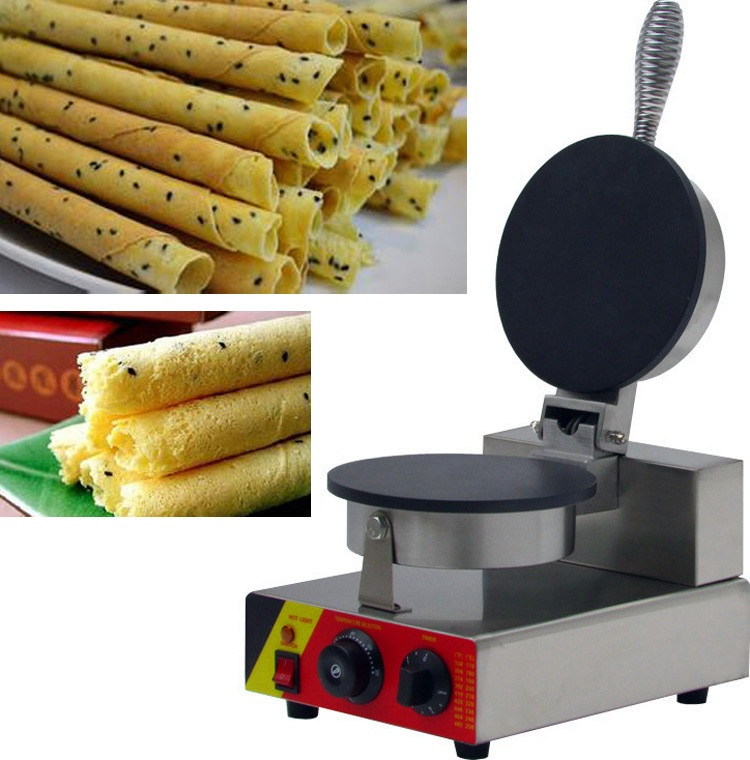 CE approval electric egg crepes making machine, egg-biscuit-roll machine,egg roll making machine for sale partial to pink
