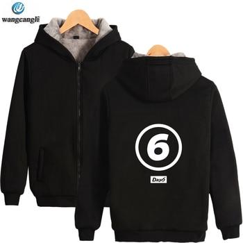 Sudadera con capucha de invierno KPOP Day6 con el mismo estilo, chaqueta cálida de lana gruesa, sudadera con capucha de manga larga, sudadera para mujer y hombre, ropa 4XL