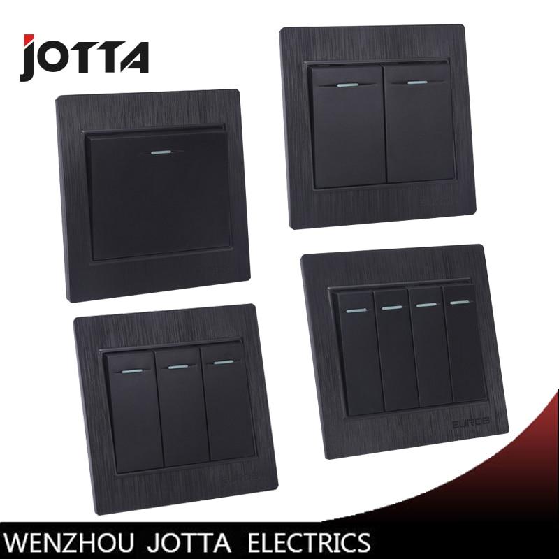 Jotta Luxury Black 1 Gang 2 Way  2 Gang 2 Way 3gang 2way