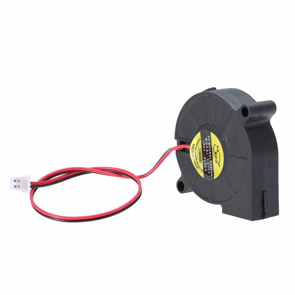 1pc 3D Printer Cooling Fan 50mm Blow Radial Fan - Hotend / Extruder RepRap DC 12V cloud nine radial blow drying brush