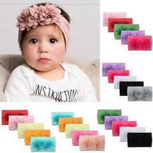 2019 NEW 5pcs/lot Cute Kid Baby Girls Headband Toddler Turban Solid Flower Hair Band bandeau bebe Accessorie