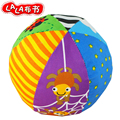 Lalababy 1pc grasp pacify colorful cloth round ball cognitive six sides rattle baby newborn infant toy gift