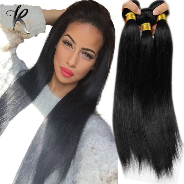 Silky Straight Malaysian Hair Weave 4pcs Jet Black Color 1 Human