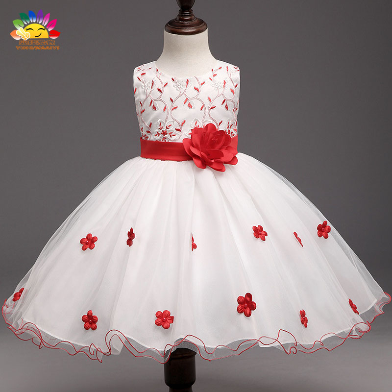 Yingwaaiyi white wedding party girl dress baby gowns wedding dress for girl kids Princess children's costumes vestido princess dc5016 5020 toner chip laser printer cartridge chip reset for xerox dc5016 5020 drum chip
