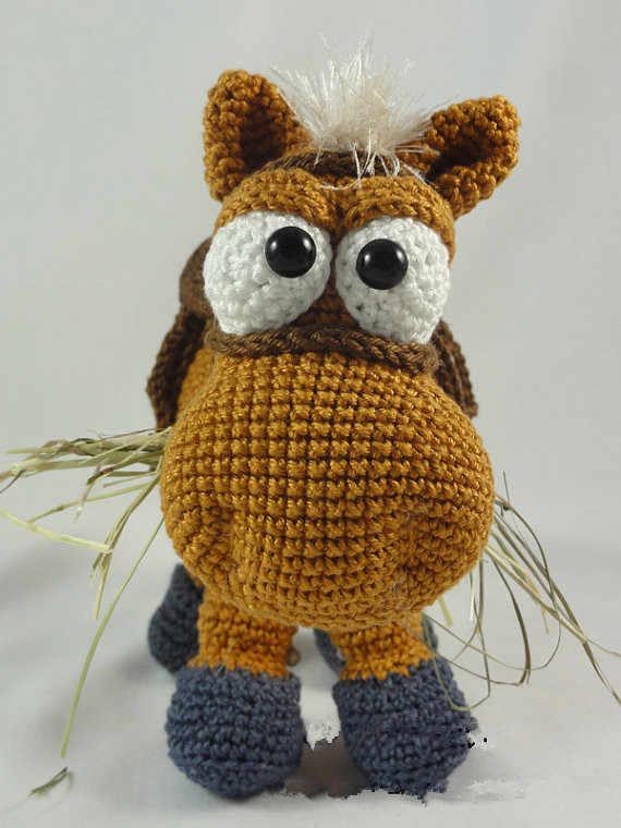 031 Crochet Pattern - HorsE-Bookmark or decor - Amigurumi PDF file ... | 760x570